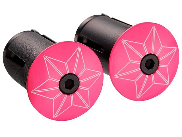 Supacaz Star Plugz Lenkerendkappen neon pink-pulverbeschichtet